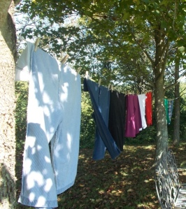 airing my clean laundry