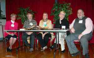 Panelists for Interfaith Peace Event