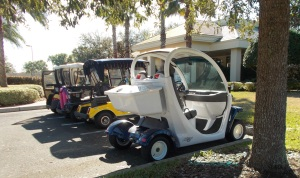 golf cart parking lot