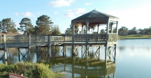 Gazebo on Lake Vista
