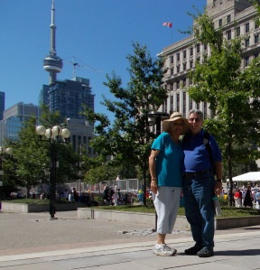 Pat and Bud heading to the CN Tower (top left)