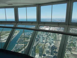 View from CN Tower's topmost observatory