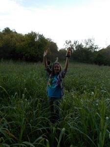 standing in alfalfa